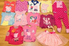 Bundle of Peppa Pig Girls Clothes (Sizes 2-3 & 3-4)