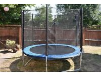 8ft Trampoline with nets, cover and ladder