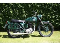 BSA B40 WD 350cc, recent restoration and many new parts