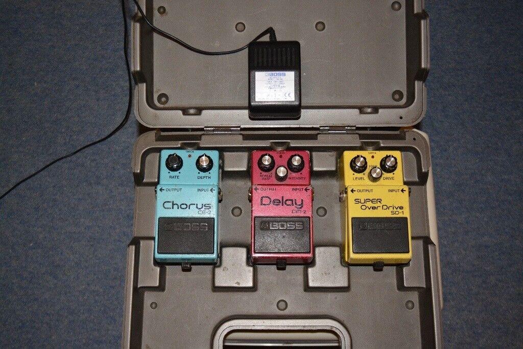 Boss Guitar Effects Pedals.