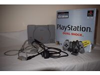 Playstation 1 games console and console accessories - £24.00