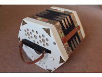 Concertina : Scholer, 20 keys, Squeezebox, sometimes called Accordion