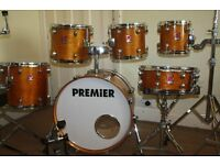 "Premier XPK Natural Lacquered Birch 6 Piece Drum Kit (20"" Bass) - DRUMS ONLY"