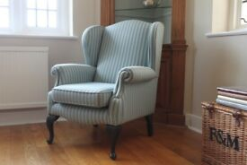 matching pair of wing chairs