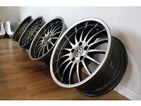 """GENUINE set Breyton Magic Wheels 18"""" x 8.5j 5x120 BMW e36, e46, e39, e90, T5, VERY RARE!"""