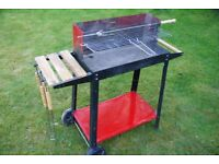 Trolley barbecue and tools