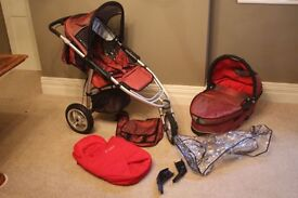 Quinny Speedi SX With Carrycot and Raincovers