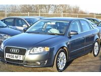 2006(56) AUDI A4 1.9 TDI SE WITH BOSE + CRUISE - DOLPHIN GREY FSH 2 OWNERS