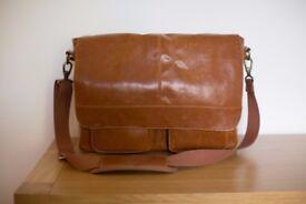 Kelly Moore Bag Kelly Boy Camera Bag with Trolley Sleeve, Laptop Bag, Leather Camera Bag (Caramel)