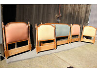 Joblot of 5 French Headboards - 4 Single & 1 King size Headboard