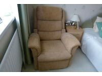 Electric riser and recliner chair with twin motors