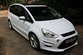 2012 Ford S Max Titanium X Sport 2.2 Tdci in White with automatic gearbox only 50k miles