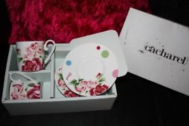 Cacharel Papillons Fine Bone China Cup and Saucer