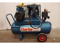 Clarke Compressor 110V Belt Drive 3.0HP 14cfm 50L - PE15C50