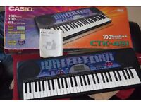 CASIO CTK-451 61 FILL SIZE KEYS POWER ADAPTER/INSTRUCTION INCLUDED/CAN SEE WORKING