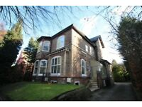 Two bed spacious flat to rent in well cared for period house, off rd parking Palatine Rd Didsbury