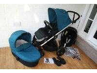 Mamas and Papas Sola 2 Pushchair Pram Travel System 3 in 1 - Petrol Blue CAN POST