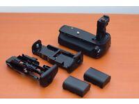 Battery Grip ( Canon 70D ) + 2 Batteries