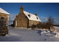 Ferness. Charming newly- renovated unfurnished farmhouse in rural location for long-term let.