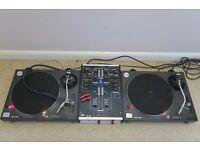 Technics 1210 MKII (Pair) / Urei 1601 Mixer / Stanton Diablos (2 sets) / Bose Speakers