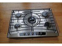Used Neff 5 burner gas hob & black granite worktop
