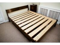 Warren Evans 'Milan' wooden kingsize bedframe