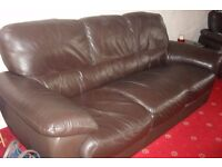 3 Seater Italian Leather Settee