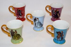 Disney Fairytale Couples collectible mugs