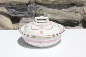 Stunning Antique Lidded Soap dish Art Edwardian Art Nouveau Bathroom Vintage Ceramic Pottery