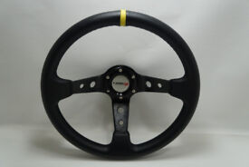 NEW Ø14 Sport Steering Wheel WITH Rally Cover