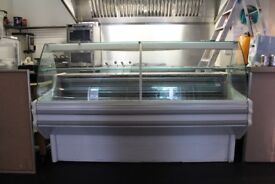 Large display fridge with prep surface 950d x 2000w x 1300h