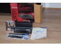 SONY CAR MINI DISC/RADIO PLAYER/CAGE/BOX/INSTRUCTION/MINI DISC INCLUDED