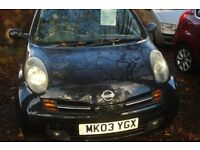 Nissan micro sx 2003-03 reg SALE NOW ON -NEW BUSINESS