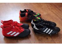 3 pairs of football boots
