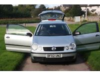 SOLD SOLD 02 VW POLO, 1.4 DIESEL, EX COND, LONG MOT, FREE WARRANTY