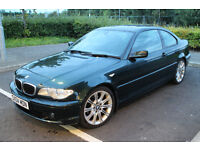 BMW 320 CD 2.0 SE DIESEL COUPE E46 M-SPORT MV2 ALLOYS 1YR MOT FSH SUNROOF M-SPORT INTERIOR £2495ono