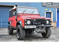 LAND ROVER DEFENDER 90 RARE AUTOMATIC 300TDi (RED) WINCH BUMPER AND WINCH not 200TDI TD5 Puma 110