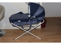 John lewis As new Moses basket and with stand large size