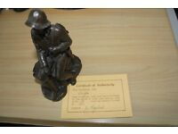 "REDUCED PRICE LIMITED EDITION COLD CAST BRONZE STATUE OF ""ANGLER"""