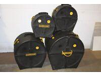 Hardcase Drum Cases 13in Snare + 12in Tom + 16in Floor Tom + 20in Bass - Prices From £30