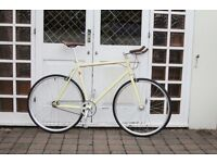NEW IN!! !!! Steel Frame Single speed road bike fixed gear racing fixie bicycle D3DW