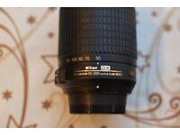 Nikon DX AF-S Nikkor 55-200mm 1.4-5.6G VR zoom lens
