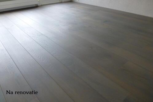Kleurolie Eiken Vloer : ≥ najaarskorting houten vloer parket schuren kleurolie