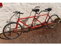 VINTAGE TANDEM BICYCLE BIKE TWO SEAT RETRO FUN RIDE ADVERTISE PLAY RESTORE GREAT FUN AVE A LAUGH