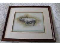 Framed Signed hepherd print