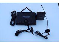 ProSound VHF Headset and Tie Clip Radio Wireless Mic Kit