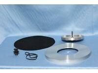 Was £45 NOW £30!!! Linn axis platter set inc. outer/inner platter-spindle/bearing/belt & mat.