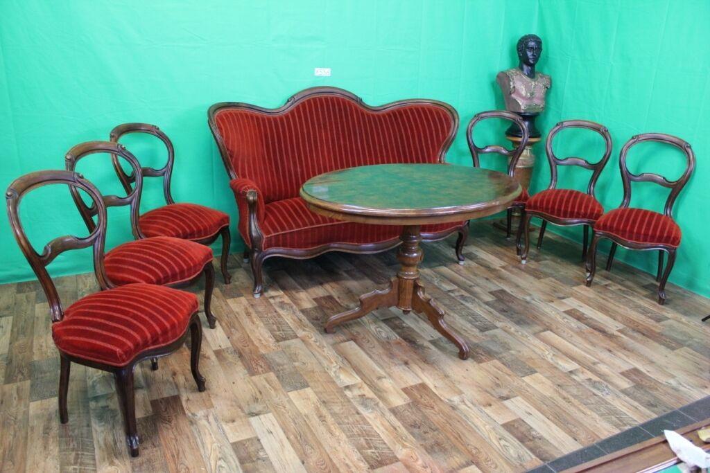 top antik sitzgarnitur sofa 6 st hle biedermeier louis philippe barock x536 eur. Black Bedroom Furniture Sets. Home Design Ideas