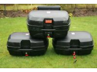 Givi side and top boxes