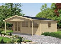 6m x 6m superior log cabin